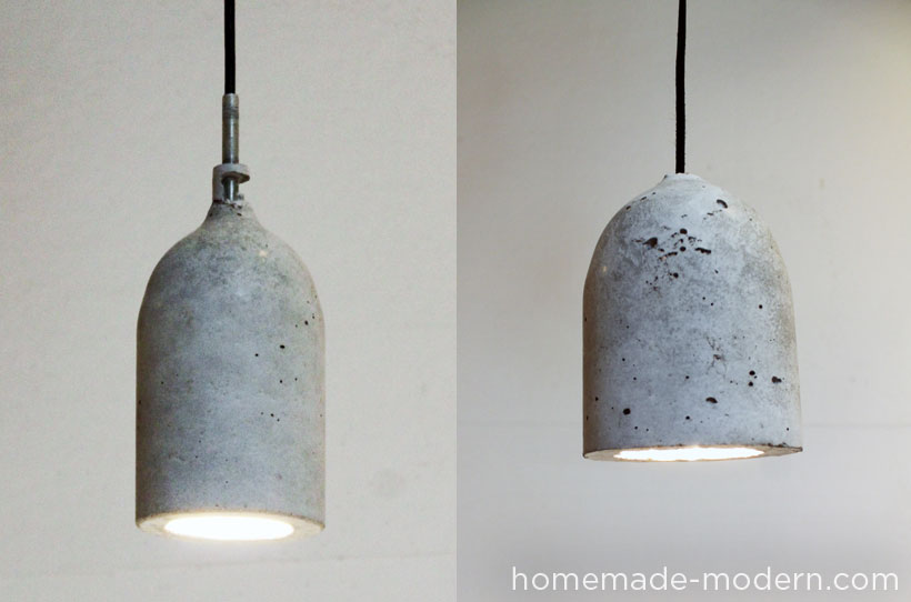 Homemade modern diy concrete pendant lamp 10 steps with pictures picture of finished picture of finished good luck making your own concrete pendant lamp aloadofball Gallery