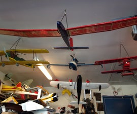 R/C airplane storage hangers to organize your fleet and clean up your garage.