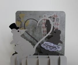 Rats in Love Standing Pop-up Card