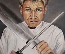 Gordon Ramsay Acrylic Portrait Painting & Tips