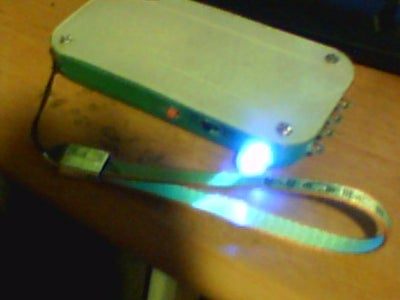 How to Make a Rechargable Flash Light With Signal Light From Recycable Materials.