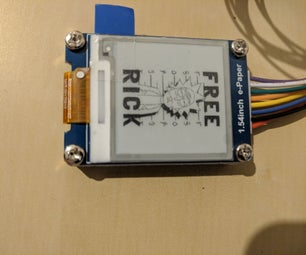 Waveshare EPaper 1.54 Raspberry Pi