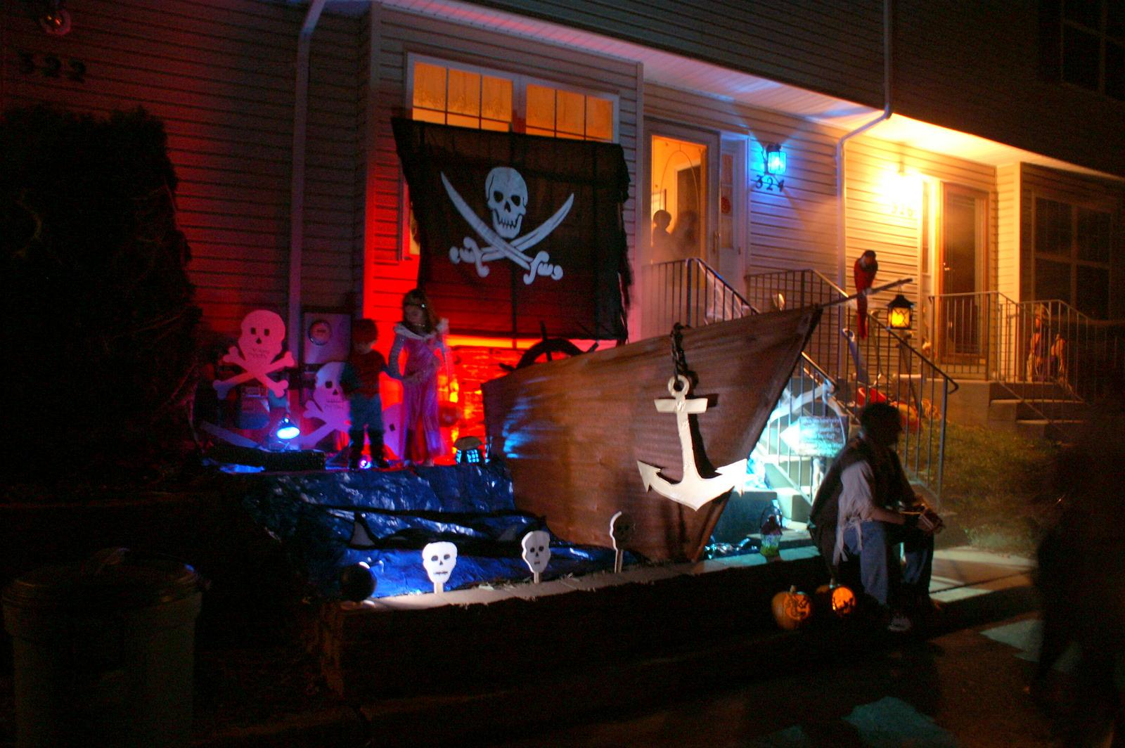 halloween pirate ship yee must walk the plank - Pirate Decorations