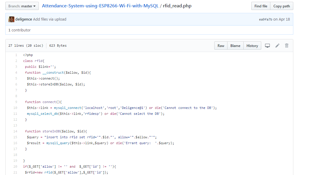 Picture of Code for Project