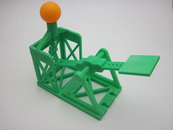 3D Printed Vertical Ball Launcher