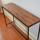 Walnut hallway table topper