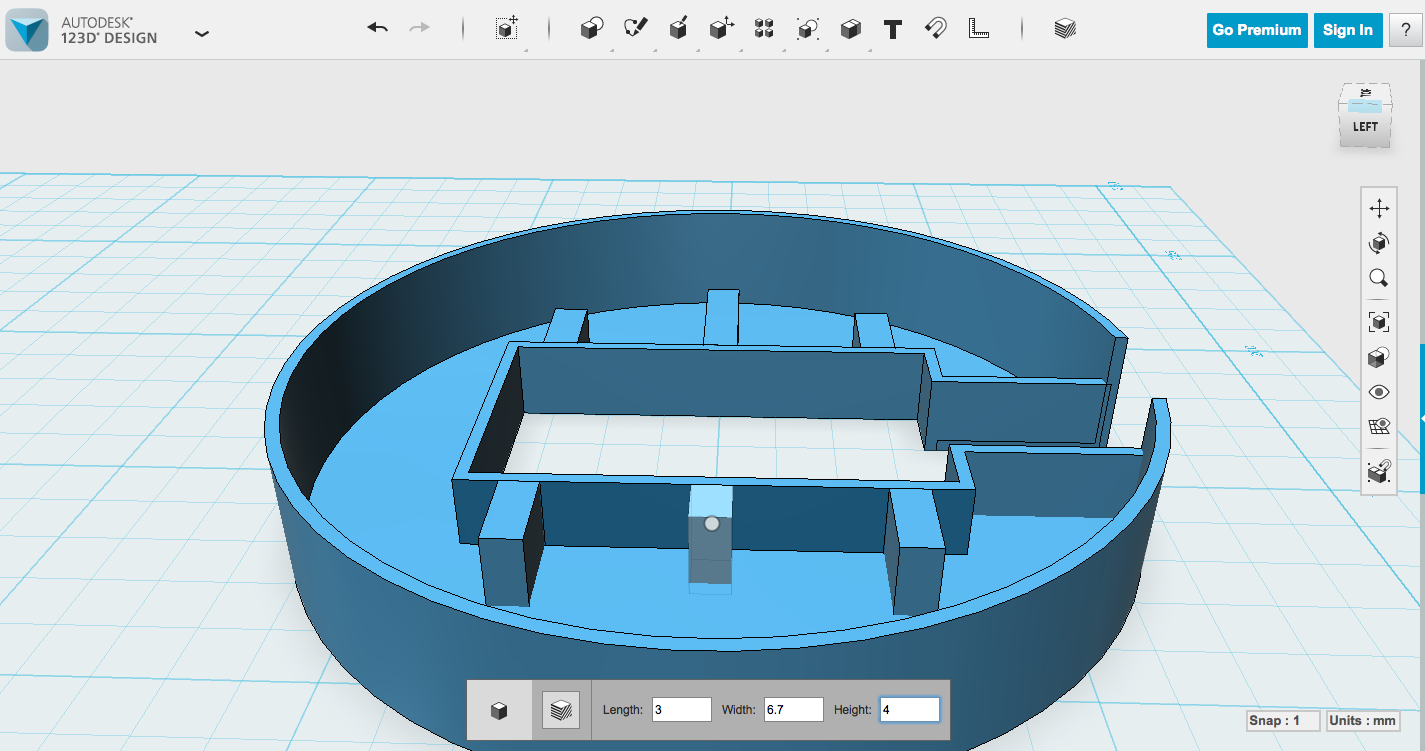 Picture of Modeling the Case - Supports