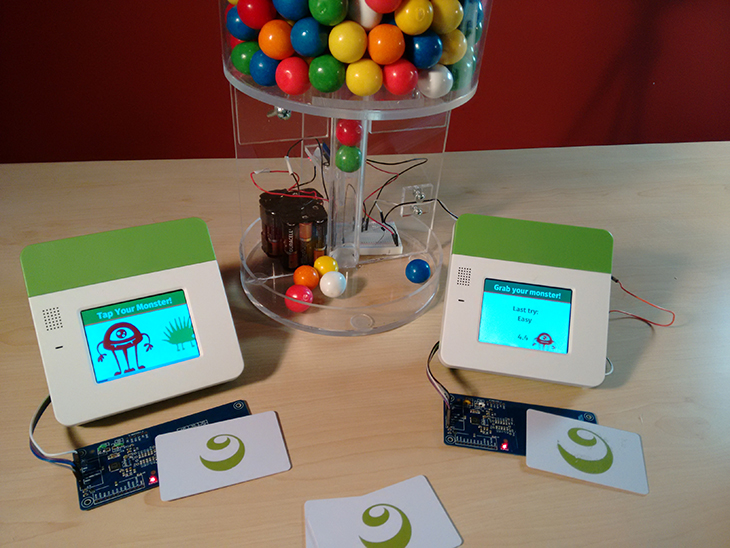 Picture of Monster Mayhem: Using NFC Readers to Release Gumballs Through a Matching Game