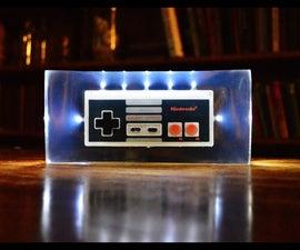 NES Controller Night Light in Resin