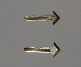Making arrow heads from old keys