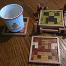 Minecraft Wooden Drink Coasters