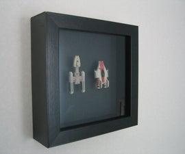 Star Wars miniatures wall decoration