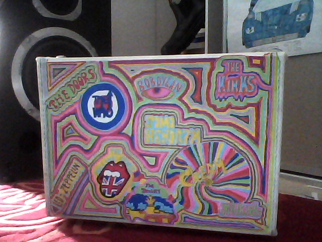 Picture of Rock and Roll Inspired Suitcase