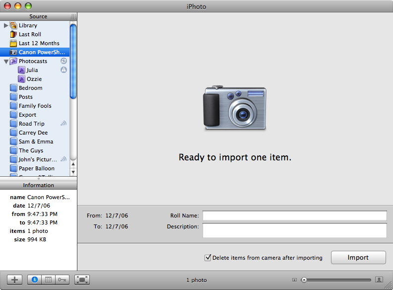 Picture of Import a Picture