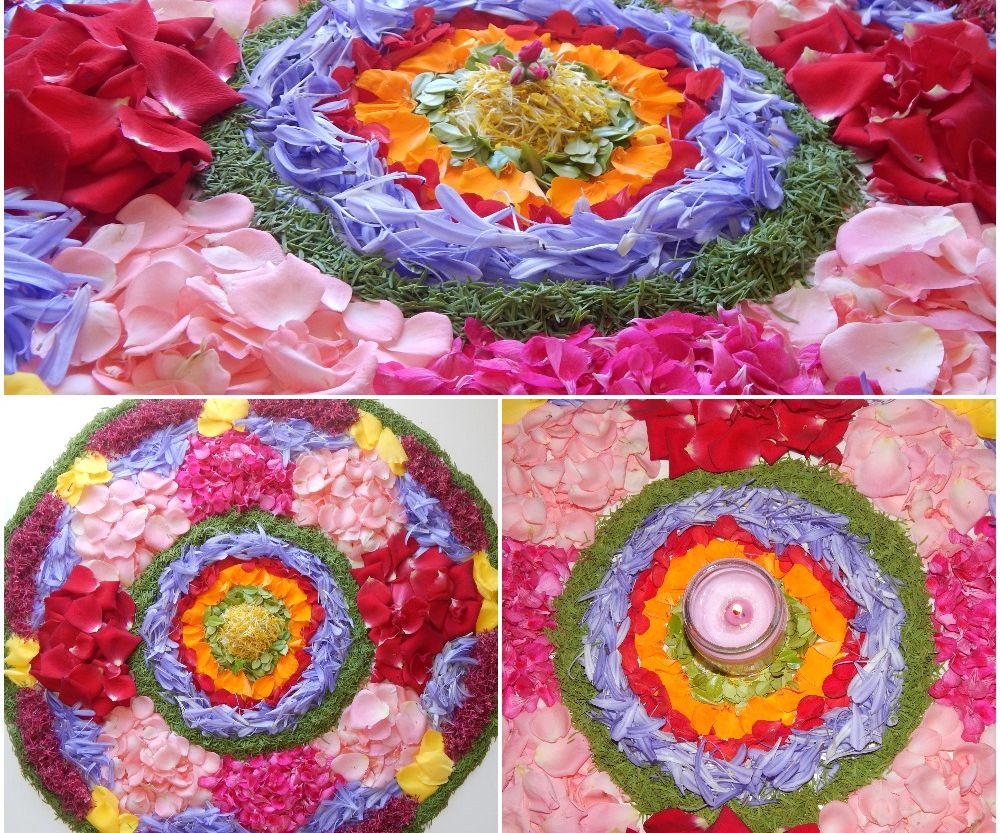 Pookalam Flower Rangoli 6 Steps With Pictures