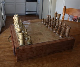 Make a Chess Set and Playing Board With a Storage Drawer