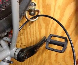 Garage D-ring Bike Locking Station
