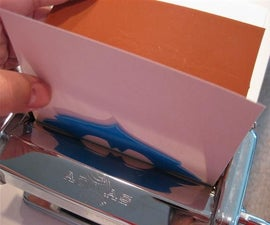 Pasta Machine with Plastic Plate Embossing