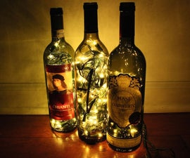 Dramatic Wine Bottle Lights