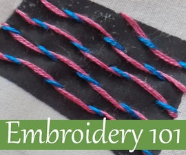 Embroidery 101: Laced Running Stitch