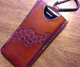 How (sometimes Not) to Make a Leather Cellphone Slider Case..
