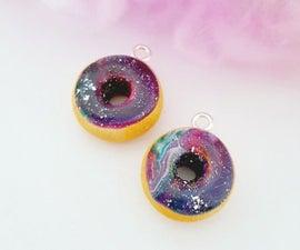Polymer Clay Galaxy Donut Charm