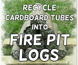 Recycle Cardboard Tubes for Fire Logs