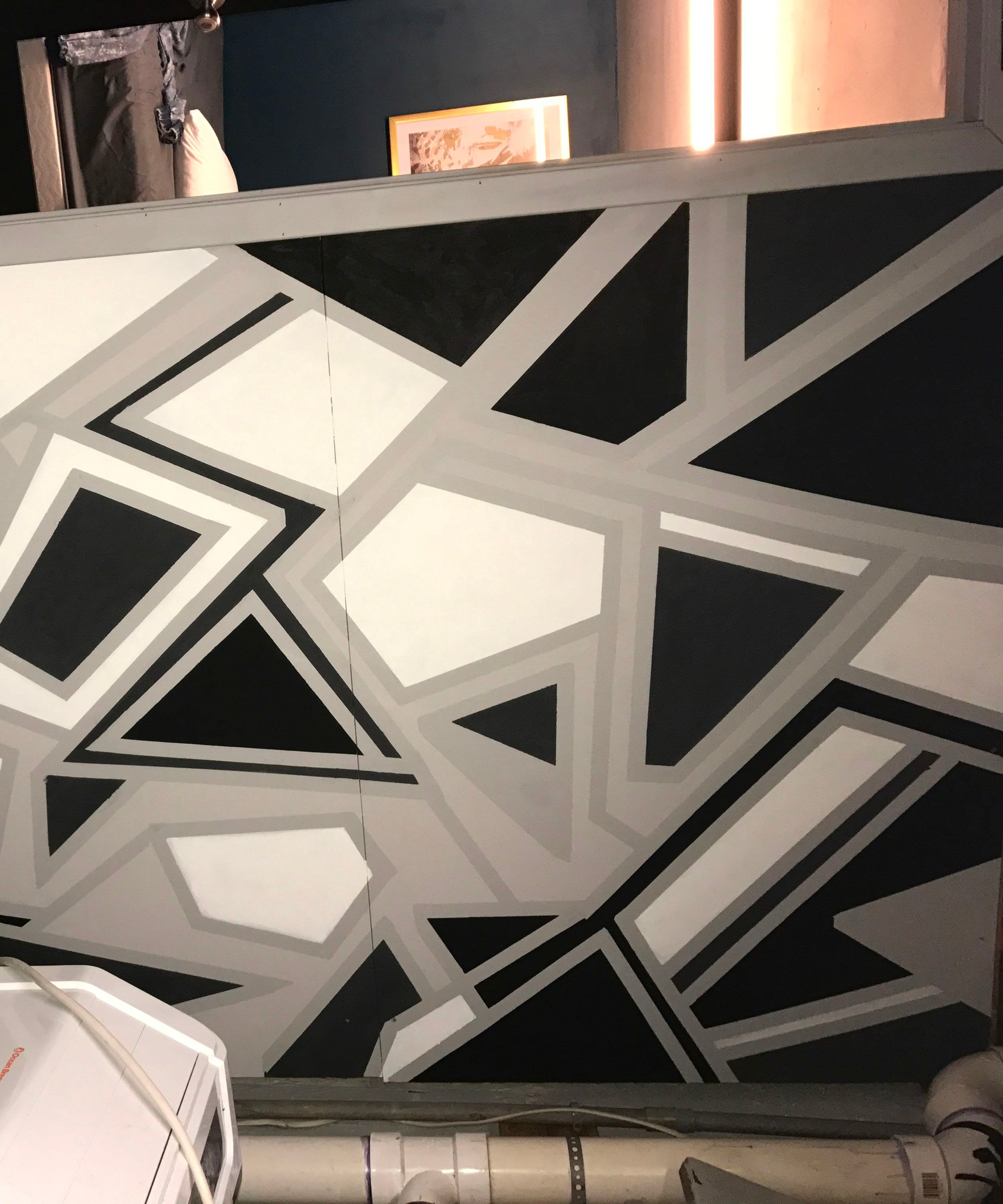 Geometric Wall Paint 7 Steps With Pictures Instructables,Painting An Accent Wall Ideas