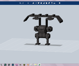 3d printable Mech Based on Hawken