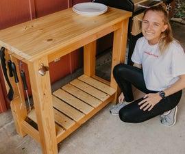 DIY Outdoor Grill Cart
