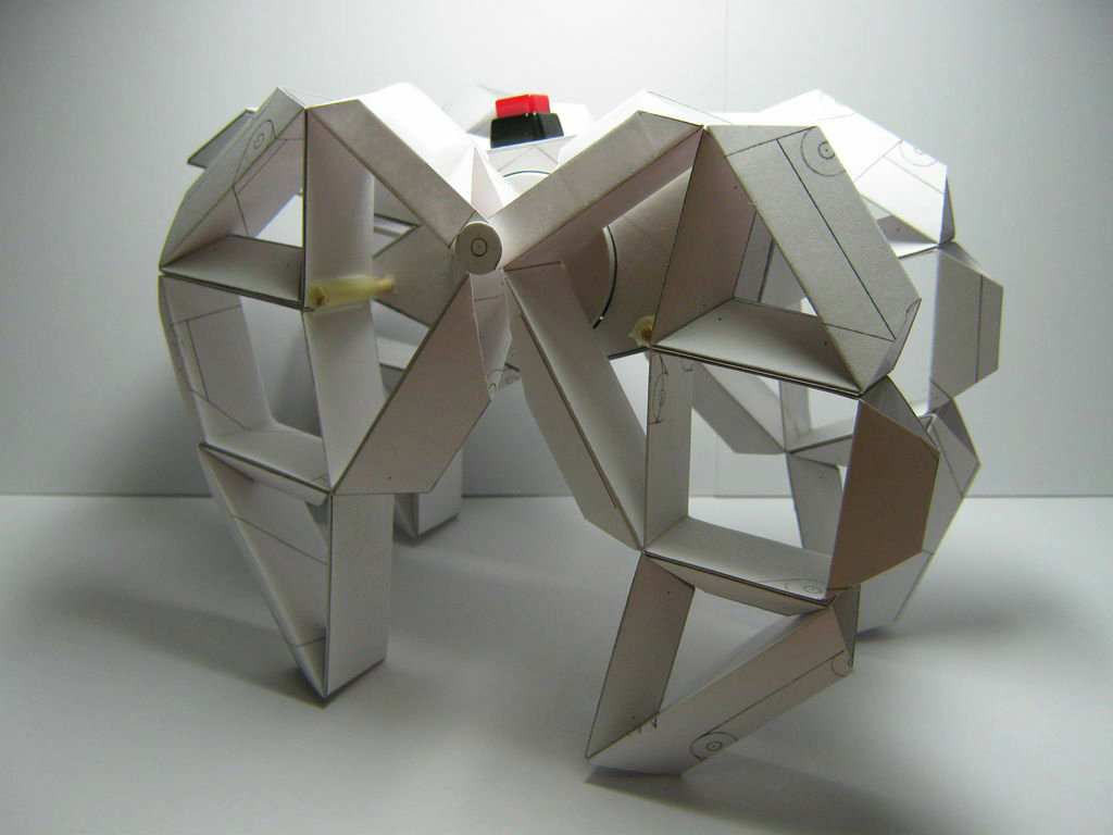 """Picture of Paper Motorized Walking Machine """"Sculpture"""""""
