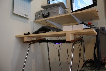 Keyboard Platform Attached to Treadmill; Desk Attached to Wall 2