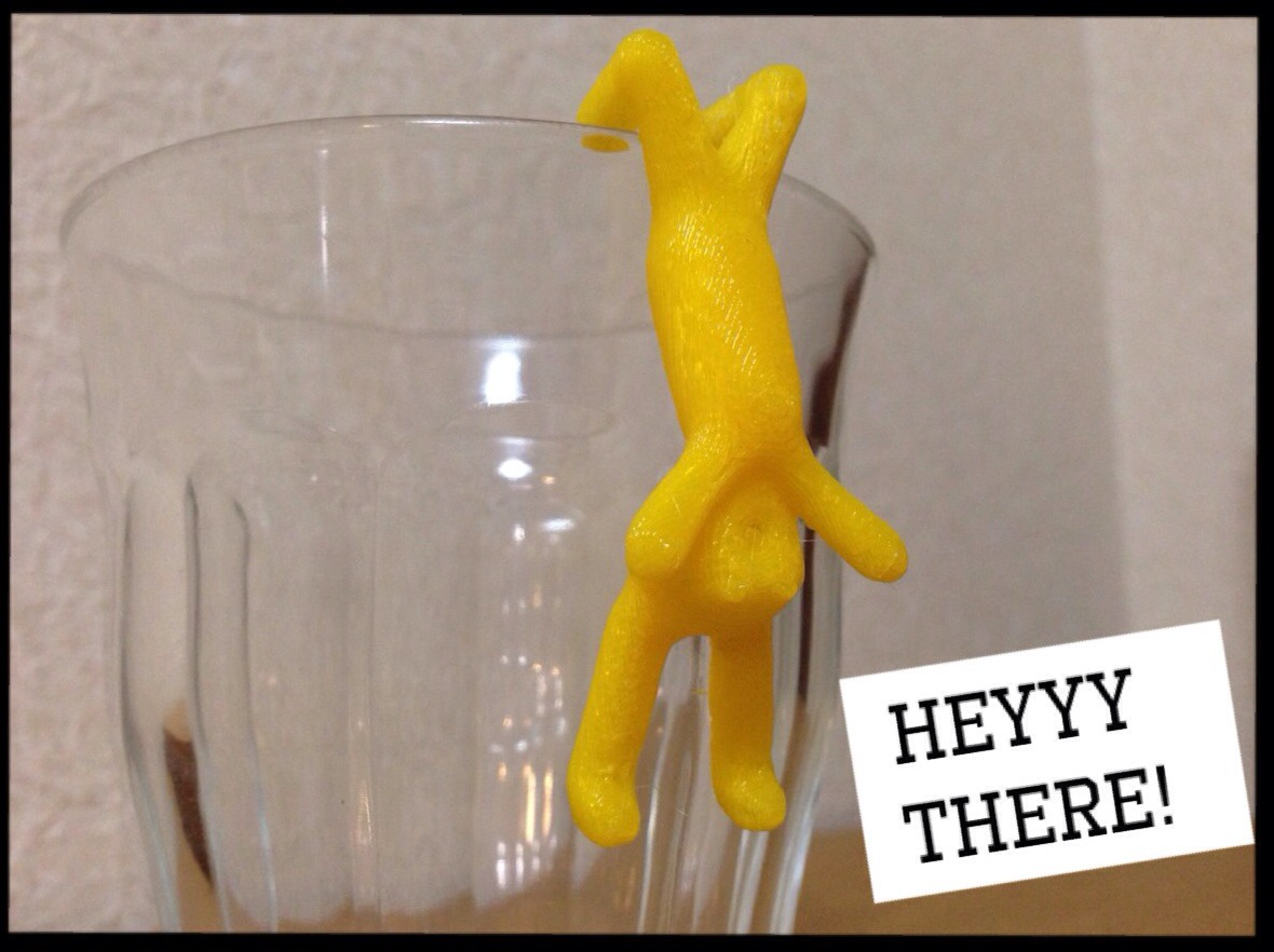 Picture of 3D Printed Screaming Rabbit My Cup Marker