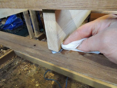 Gluing and Assembling the Table Base
