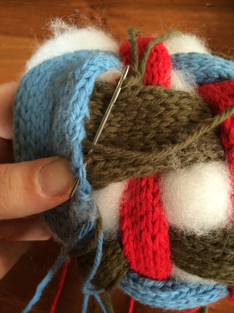 Picture of Stuffing and Stitching Up the Ball