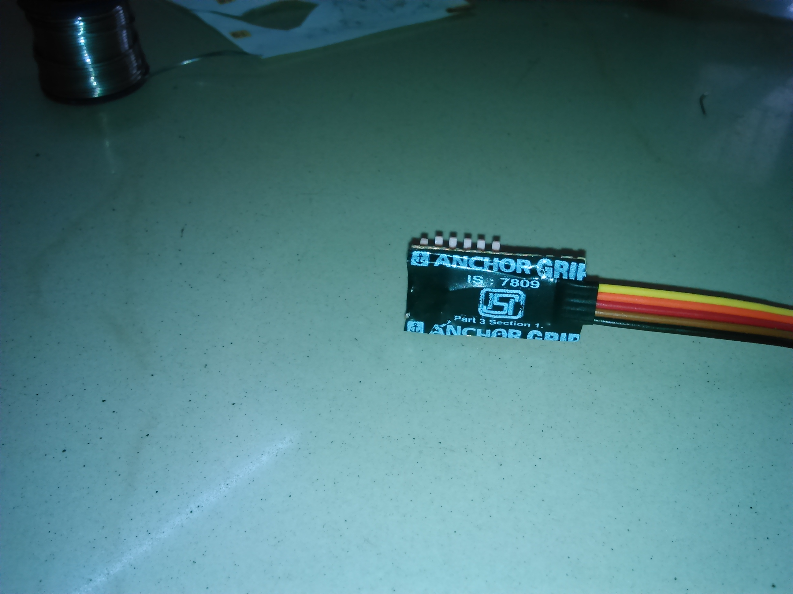 Picture of Fitting the DIP Switch for Individual Light Control.