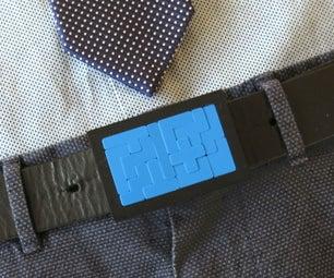 Pentomino Belt Buckle (3D Printed)