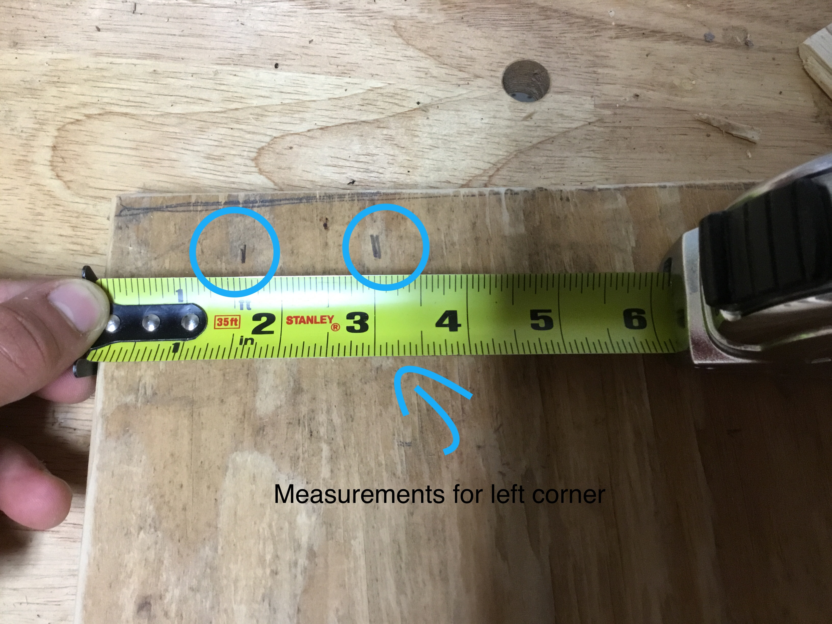 Picture of Measurements for the Compartments