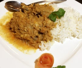 Chicken Curry in Crock pot (One pot Dish)