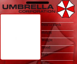 Umbrella ID Badge Template Front and Back **not a how to just the template itself.**