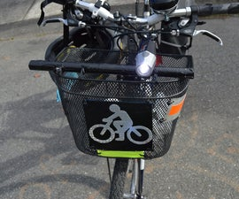 Mounting Bike Lights on Bike Baskets