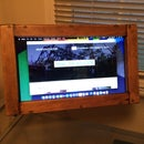 Wooden Repurposed Laptop Display Frame
