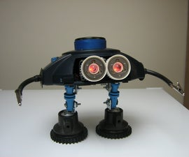 """(BLUE) """"Batteries not included"""" style junkbot"""