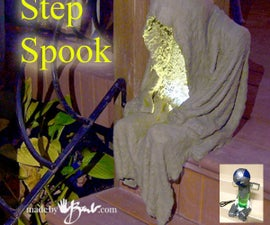 Concrete Lighted Step Spook