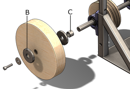 Assembling the Wooden Pulley and the Wooden Wheel