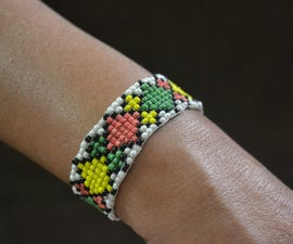 Bead Loom Bracelet Without a Loom!