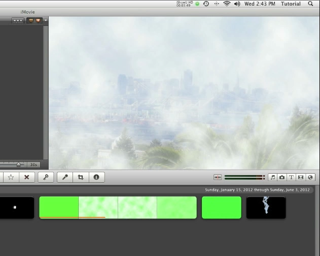 IMovie 11 Special Effects - Fog Effect