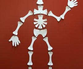 Paper Plate Skeleton