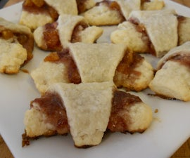 Raspberry Apricot Rugelach