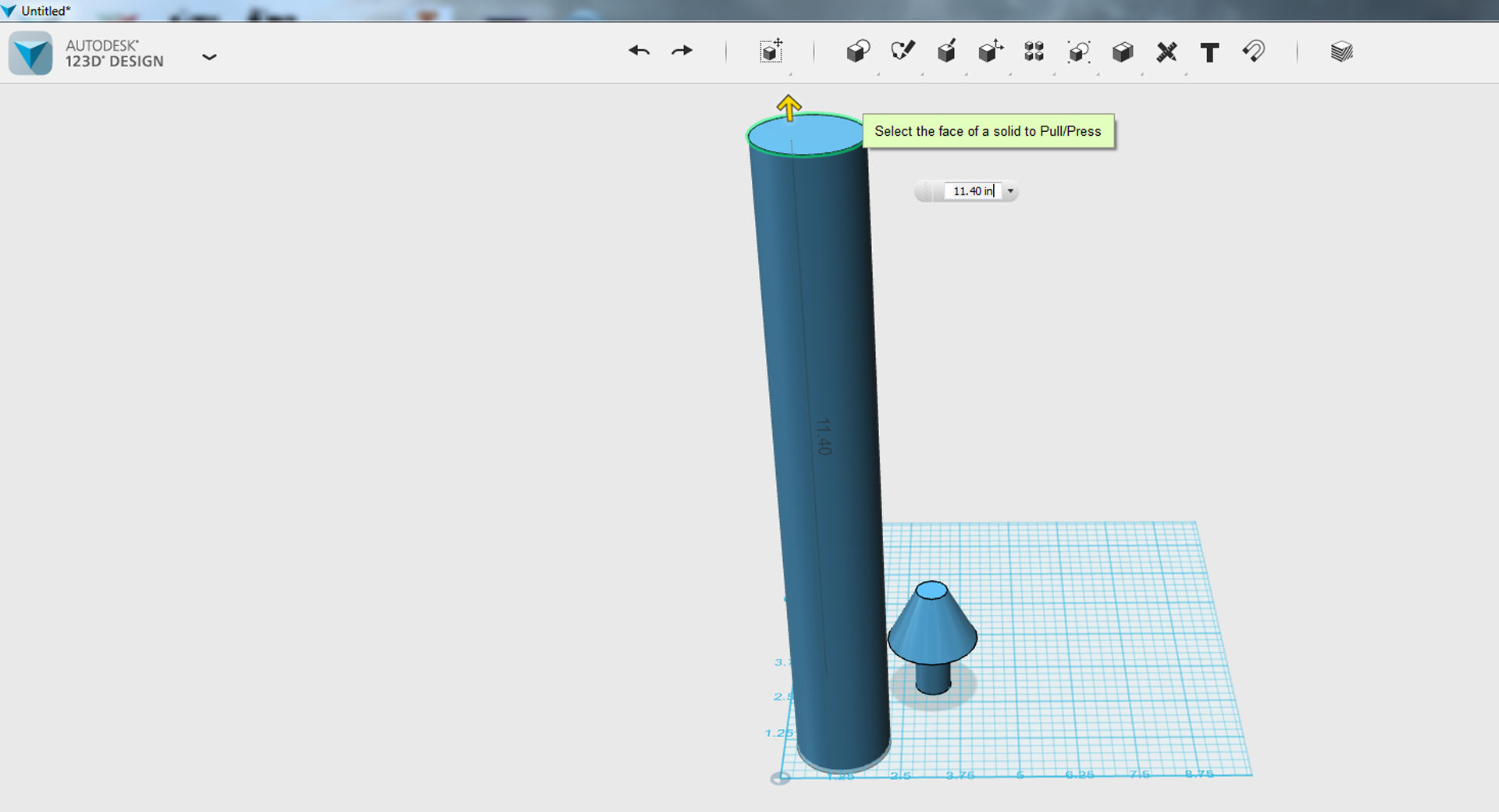 Picture of TinkerCAD - Scale Lamp Part 2 (reference Cylinder Height)